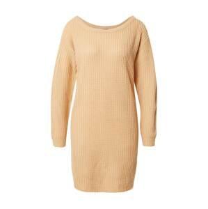 Missguided Úpletové šaty  písková