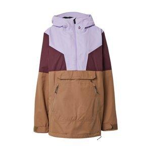 Volcom Outdoorová bunda 'MIRROR'  světle hnědá / bledě fialová / bobule