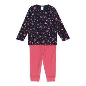 STACCATO Pyžamo  námořnická modř / pink / bílá / tmavě oranžová