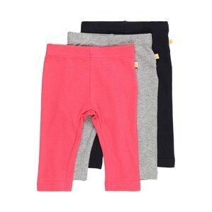 BLUE SEVEN Kalhoty  šedá / pink / námořnická modř
