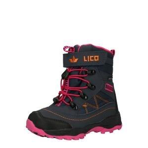 LICO Sněhule 'Sundsvall'  ultramarínová modř / oranžová / pink