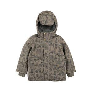mikk-line Zimní bunda  hnědá / černá