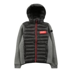 Brunotti Kids Outdoorová bunda  černá / šedý melír