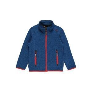 CMP Funkční flísová bunda  marine modrá / oranžově červená