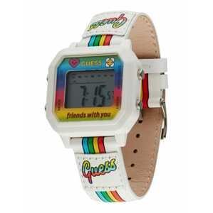 GUESS Digitální hodinky  bílá / světlemodrá / žlutá / červená / zelená