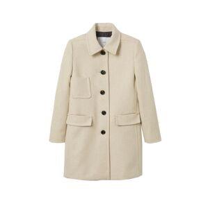 MANGO Přechodný kabát 'Brigitte'  krémová