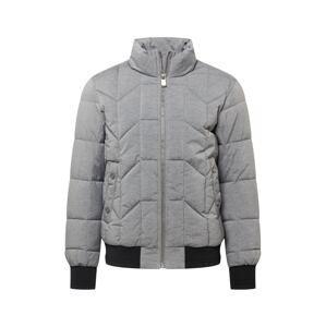 TOM TAILOR Přechodná bunda  šedý melír / černá