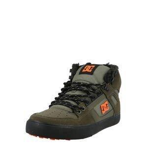 DC Shoes Kotníkové tenisky  khaki / olivová / jasně oranžová