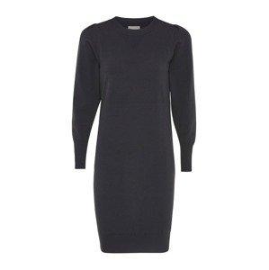 MEXX Úpletové šaty  černá