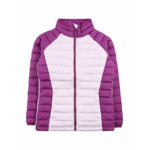 COLUMBIA Outdoorová bunda  fialová / pastelová fialová / bílá