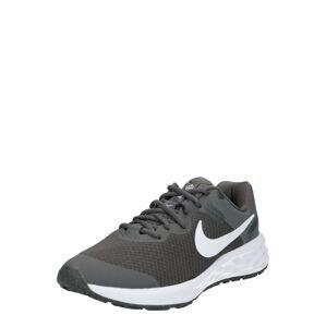 NIKE Sportovní boty 'Nike Revolution 6'  šedá / bílá