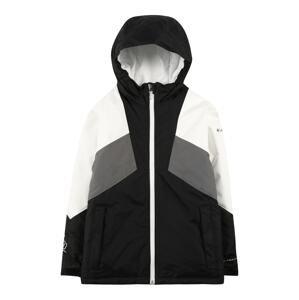 COLUMBIA Outdoorová bunda 'Alpine Diva'  černá / bílá / tmavě šedá