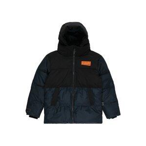 Molo Přechodná bunda 'Halo'  černá / tmavě modrá / oranžová