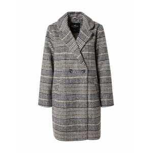 HOLLISTER Přechodný kabát  černá / šedá