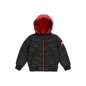 Jordan Zimní bunda  černá / červená / bílá