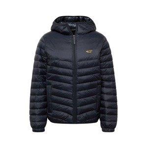 HOLLISTER Přechodná bunda  námořnická modř / zlatá / černá