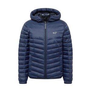 HOLLISTER Přechodná bunda  námořnická modř / bílá