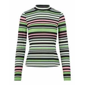PIECES Tričko  zelená / pastelově zelená / černá / bílá / pink