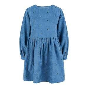 PIECES Šaty  modrá / zelená