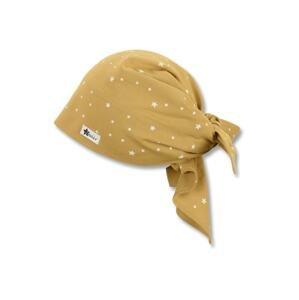 STERNTALER Čepice  žlutá / bílá