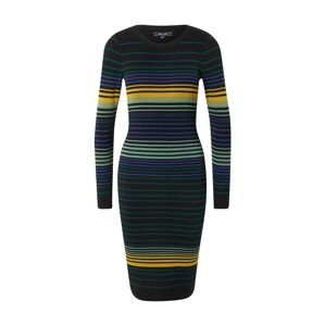 King Louie Úpletové šaty  černá / petrolejová / zlatě žlutá / svítivě fialová / pastelově zelená