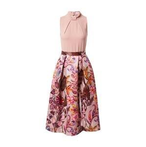 Closet London Koktejlové šaty  růžová / burgundská červeň / světle fialová / pastelově červená / zlatě žlutá