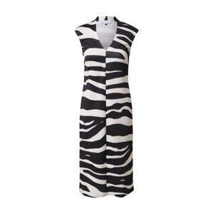Closet London Koktejlové šaty  černá / bílá