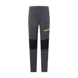 CMP Outdoorové kalhoty  tmavě šedá / svítivě žlutá / černá