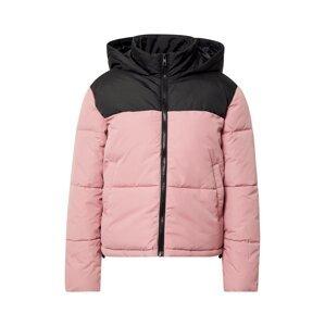 ONLY Přechodná bunda 'SANDRA'  černá / světle růžová