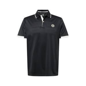 Sergio Tacchini Funkční tričko  tmavě šedá / bílá
