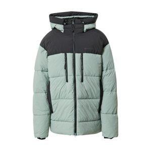 Didriksons Outdoorová bunda 'HILMER'  pastelově zelená / černá