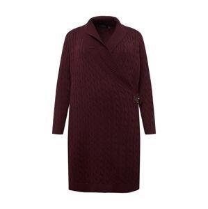 Lauren Ralph Lauren Úpletové šaty 'MADASKA'  bordó
