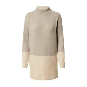 WHITE STUFF Úpletové šaty 'Hygge'  světle hnědá / béžový melír