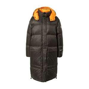 No. 1 Como Zimní kabát 'VICKI'  jasně oranžová / bílá / černá