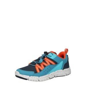 GEOX Tenisky 'FLEXYPER'  oranžová / světlemodrá / kouřově modrá / bílá