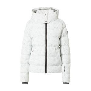 ZIENER Sportovní bunda  šedá / bílá