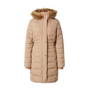 HOLLISTER Zimní kabát  světle hnědá