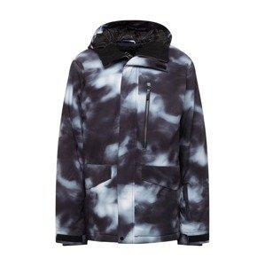QUIKSILVER Outdoorová bunda  černá / bílá