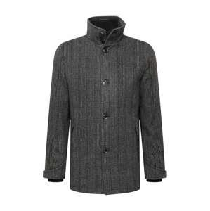 INDICODE Přechodný kabát 'Nixon'  černá / šedá / bílá