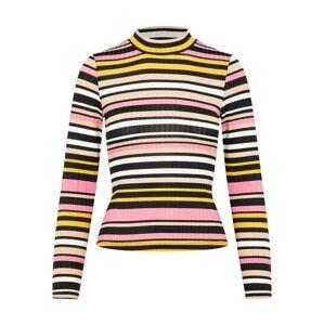 PIECES Tričko 'Sitta'  pink / růžová / černá / žlutá / bílá