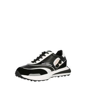Karl Lagerfeld Tenisky 'ZONE'  černá / bílá / pudrová