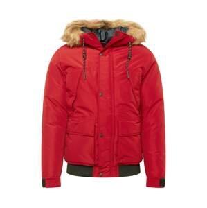 JACK & JONES Zimní bunda  červená