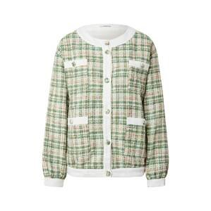 GLAMOROUS Přechodná bunda  bílá / zelená