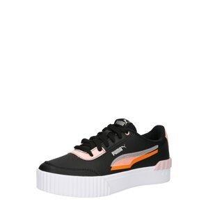 PUMA Tenisky 'Carina Lift Shadow'  černá / oranžová / světle růžová / bílá