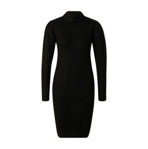 PIECES Úpletové šaty 'Cana'  černá