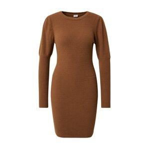 Pimkie Úpletové šaty  hnědá