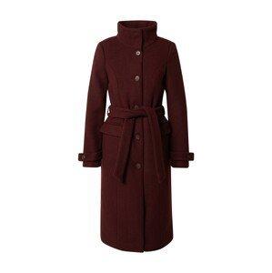 VERO MODA Zimní kabát  vínově červená