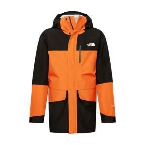 THE NORTH FACE Outdoorová bunda 'DRYZZLE ALL WEATHER'  černá / oranžová