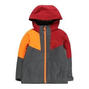 ZIENER Sportovní bunda 'Antax'  šedá / červená / žlutá