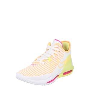 NIKE Sportovní boty 'LeBron Witness 6'  bílá / žlutá / oranžová / pink